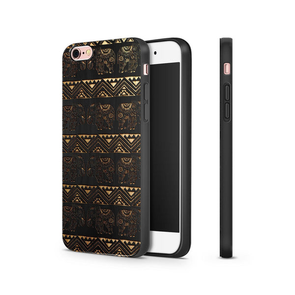 Black Bamboo - Aztec Lotus Elephant - Milkyway Cases -  iPhone - Samsung - Clear Cut Silicone Phone Case Cover