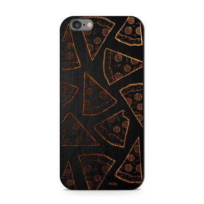 Black Bamboo - Pizza - Milkyway Cases -  iPhone - Samsung - Clear Cut Silicone Phone Case Cover