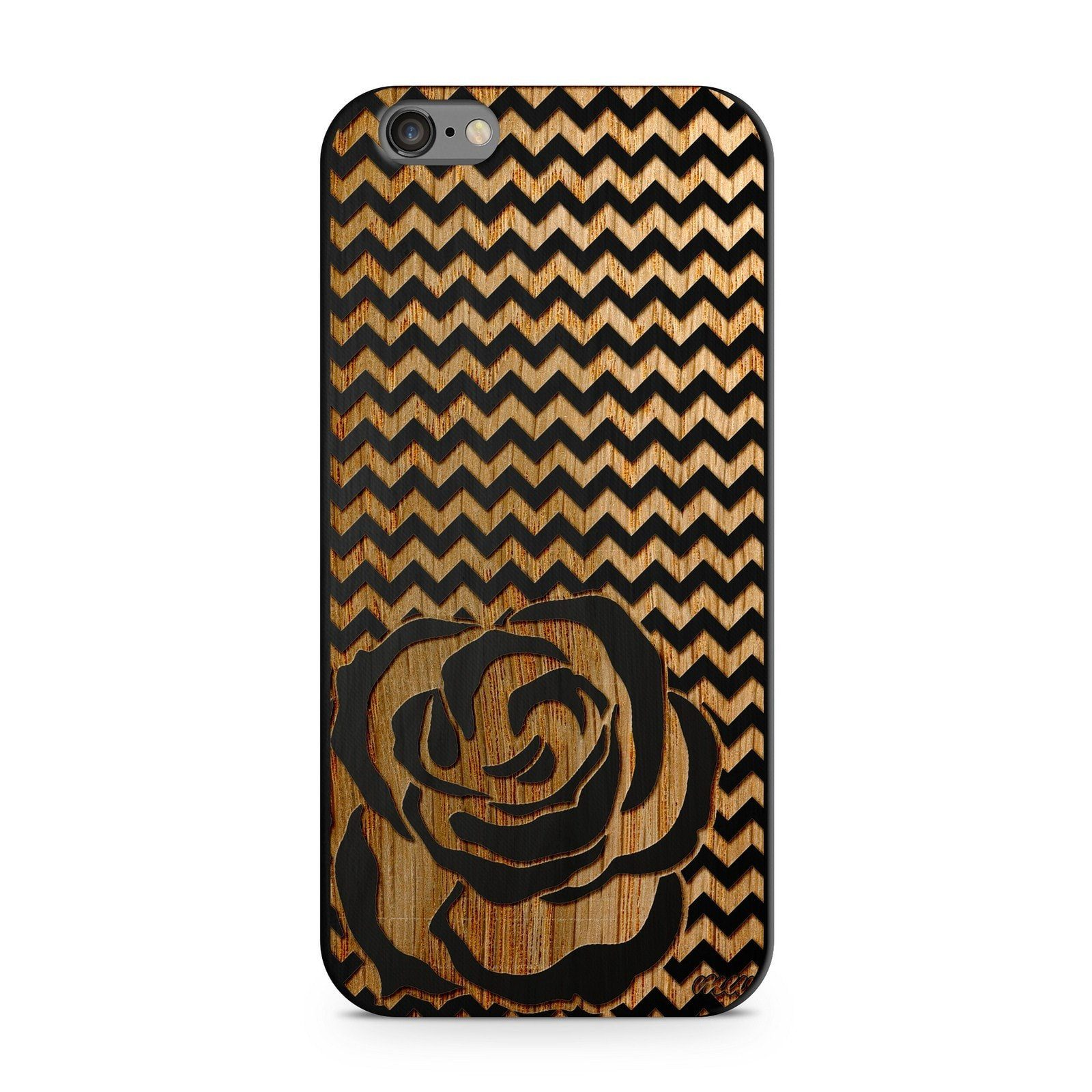 Black Bamboo - Chevron Rose