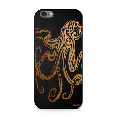 Wood  - Octopus Milkyway iPhone Samsung Clear Cute Silicone 8 Plus 7 X Cover