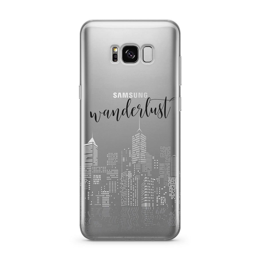 City Wanderlust  - Clear Case Cover for Samsung - Milkyway Cases -  iPhone - Samsung - Clear Cut Silicone Phone Case Cover