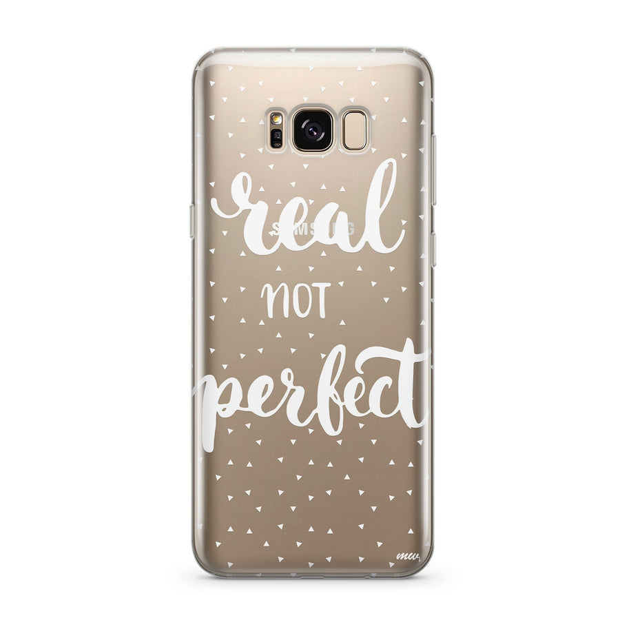 Real Not Perfect - Clear Case Cover for Samsung