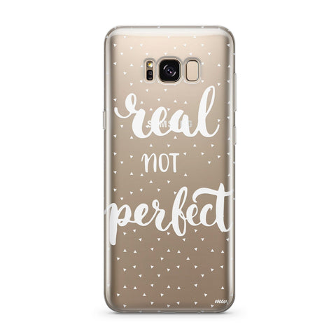 'Real Not Perfect' - Clear TPU Case Cover
