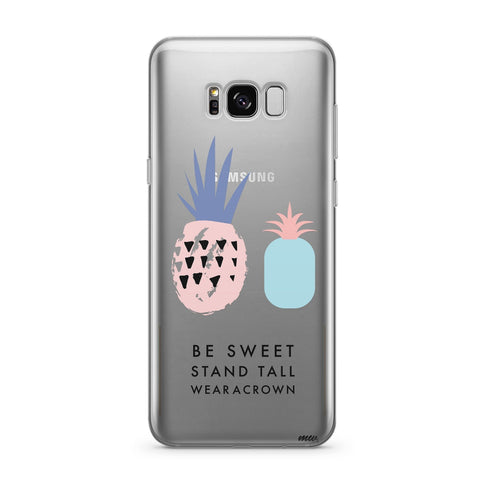 'Wear A Crown' - Clear TPU Case Cover