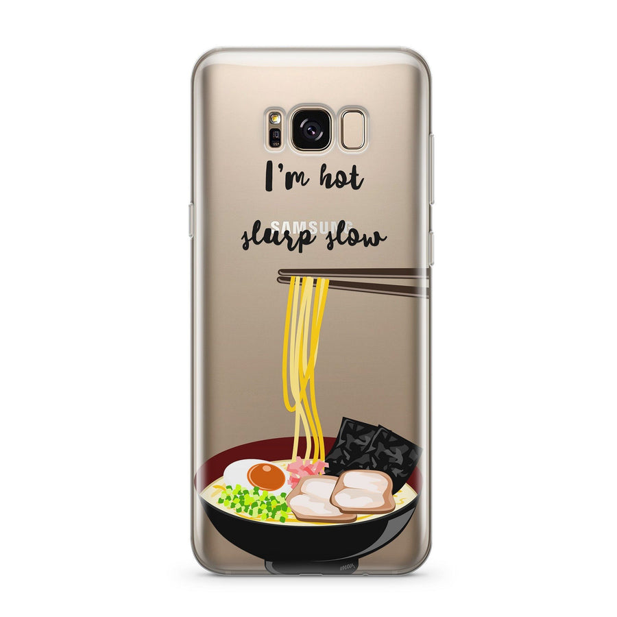 Slurp Slow - Clear Case Cover for Samsung