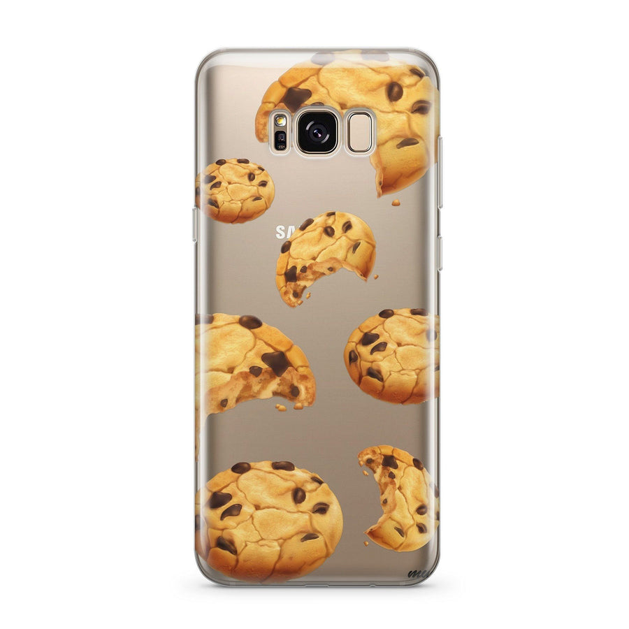 Chocolate Chip Cookie - Clear Case Cover for Samsung - Milkyway Cases -  iPhone - Samsung - Clear Cut Silicone Phone Case Cover