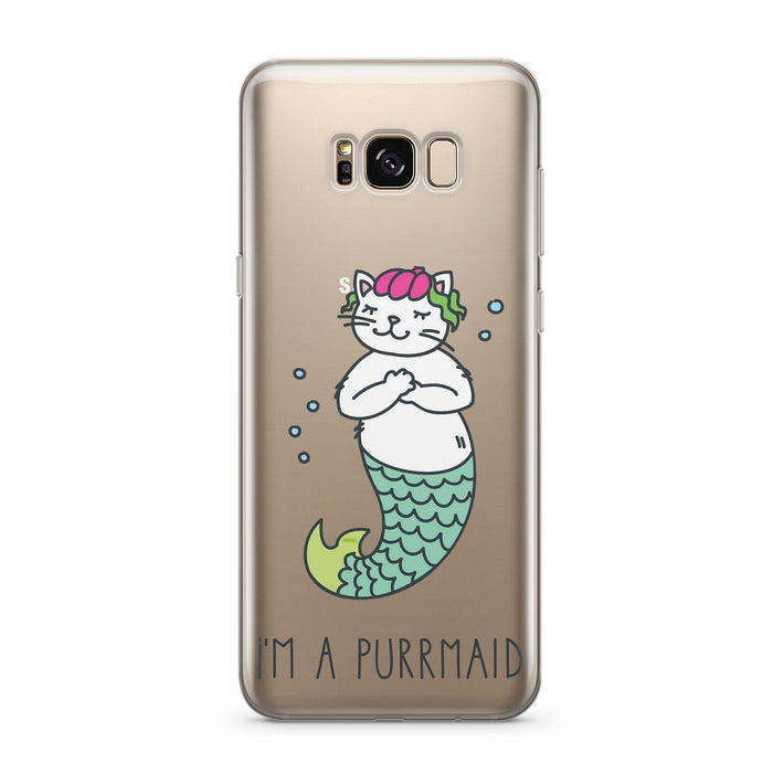 Purrmaid - Clear Case Cover for Samsung