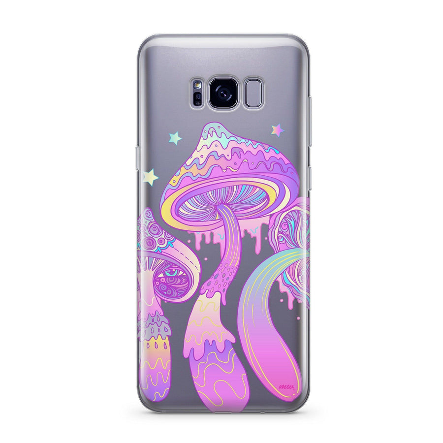 Magic Mushroom  - Clear Case Cover for Samsung