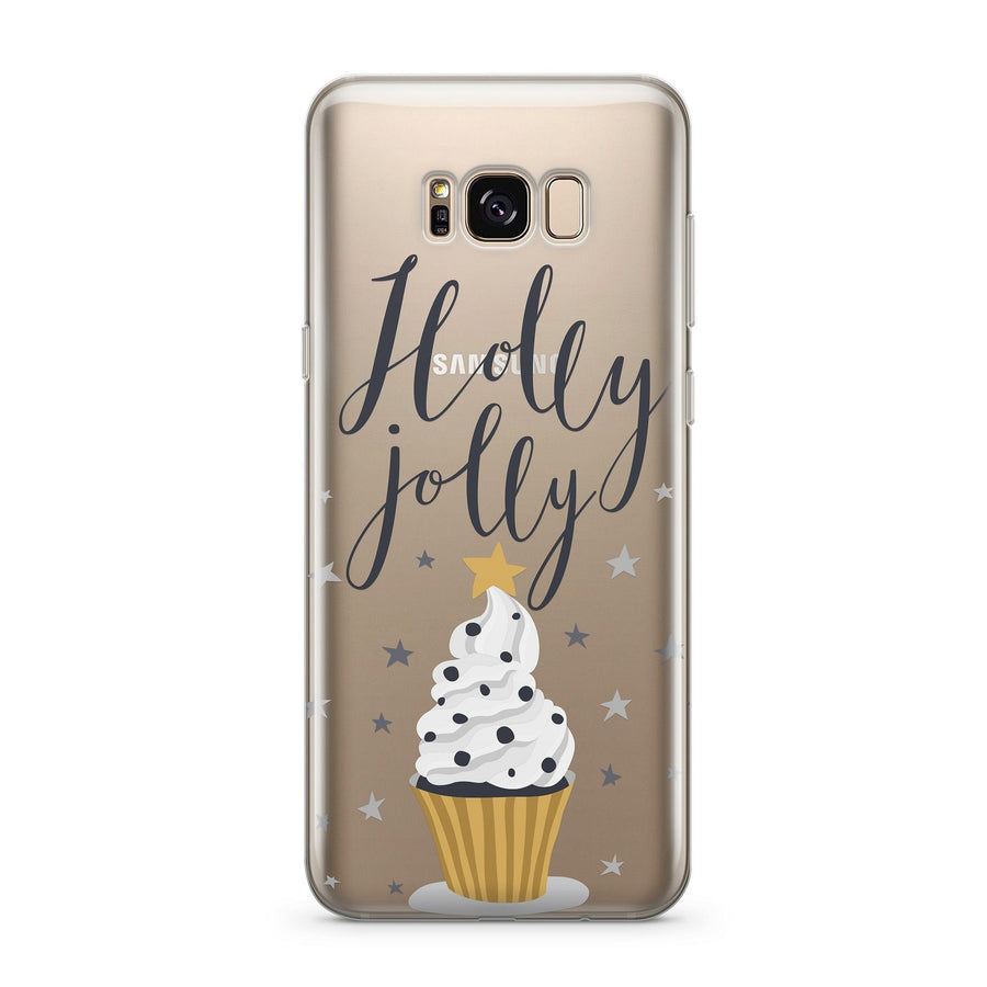 Holly Jolly - Clear Case Cover for Samsung - Milkyway Cases -  iPhone - Samsung - Clear Cut Silicone Phone Case Cover