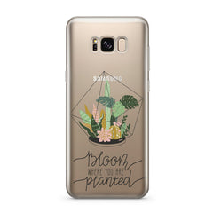 Bloom Where You Are  Planted - Clear Case Cover for Samsung
