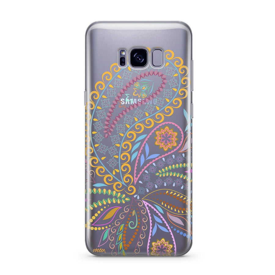 Bohemian Vibes - Clear Case Cover for Samsung