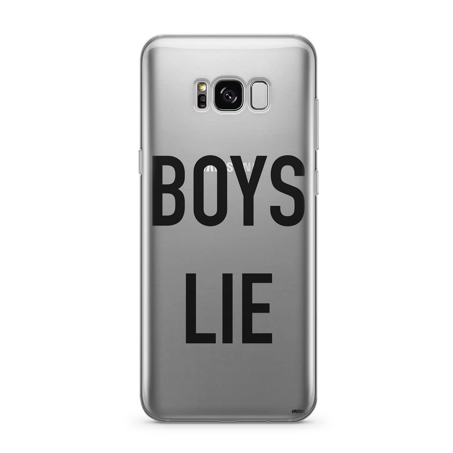 Boys Lie - Clear Case Cover for Samsung - Milkyway Cases -  iPhone - Samsung - Clear Cut Silicone Phone Case Cover