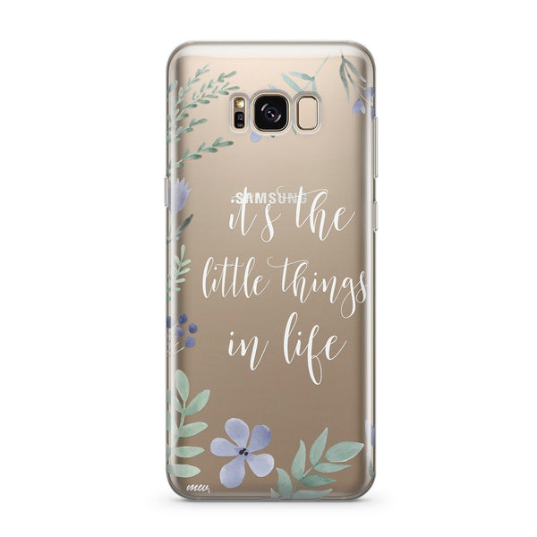 Its The Little Things In Life  - Clear Case Cover for Samsung - Milkyway Cases -  iPhone - Samsung - Clear Cut Silicone Phone Case Cover