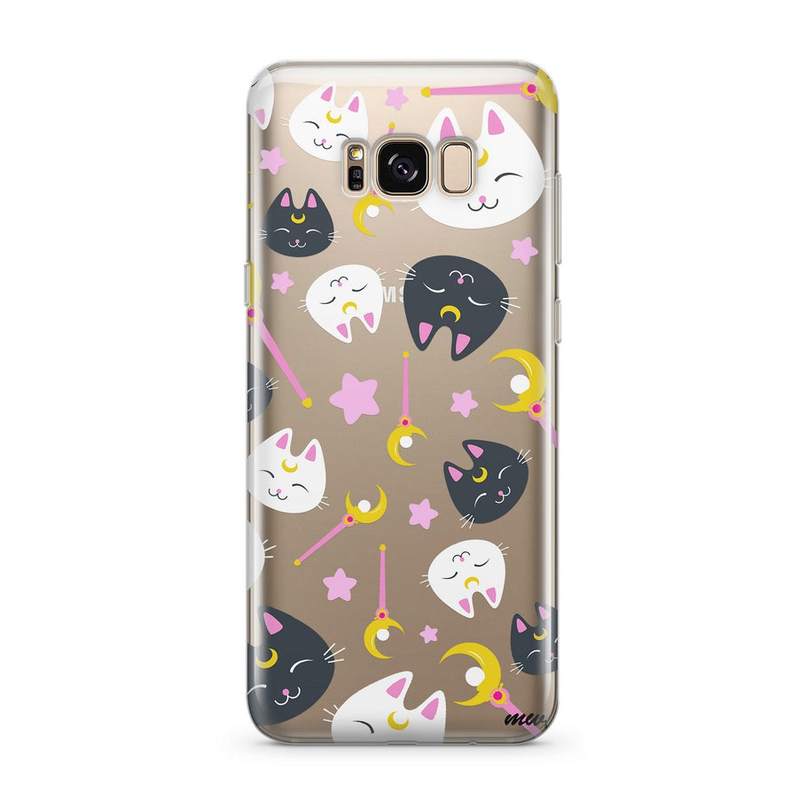 Sailor Kitty (@okitssteph x @milkywaycases) - Clear Case Cover for Samsung