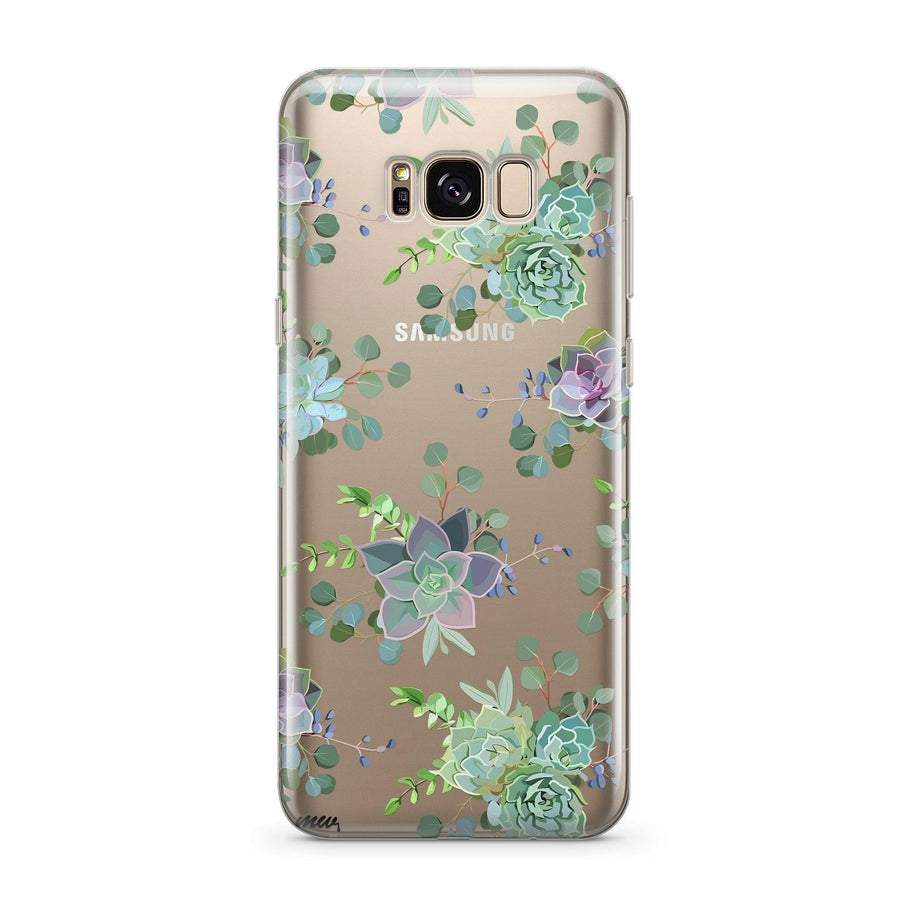 Echeveria - Clear Case Cover for Samsung
