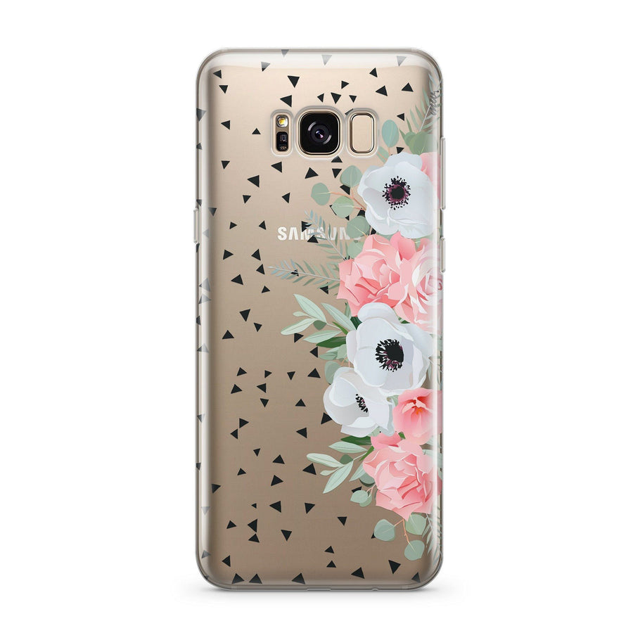Anemone Rose - Clear Case Cover for Samsung