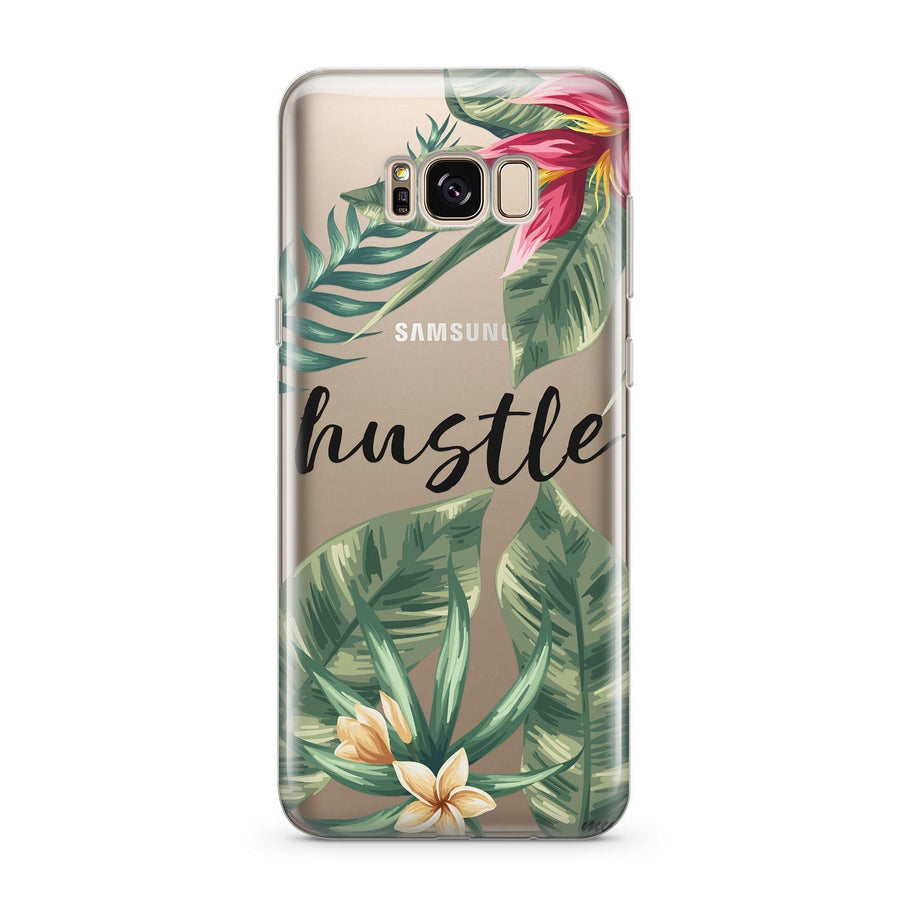 Tropic Hustle - Clear Case Cover for Samsung