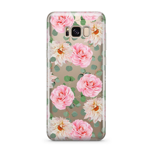 Camellia - Clear TPU Case Cover for Samsung