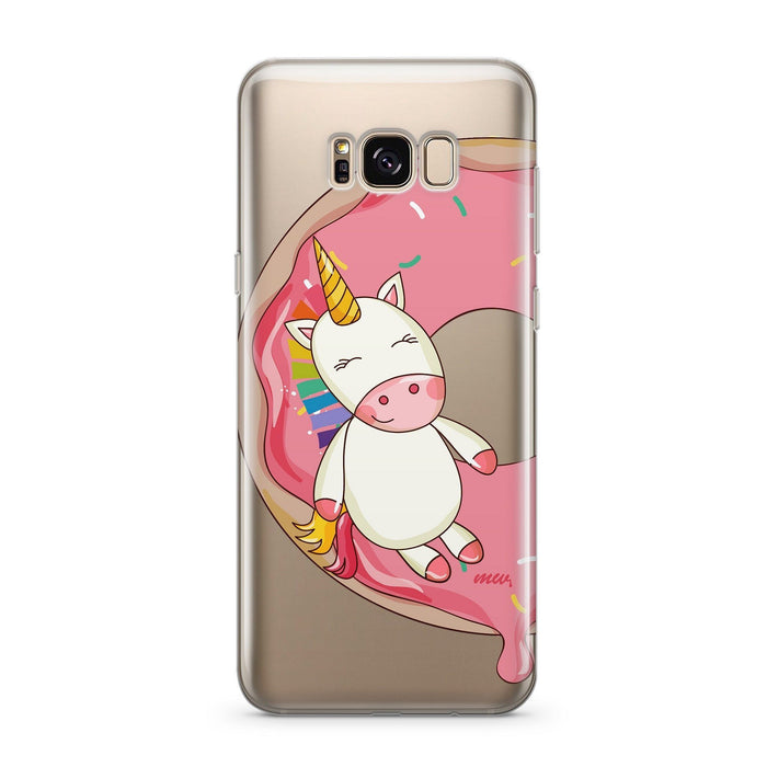 Unicorn Sprinkles - Clear Case Cover for Samsung