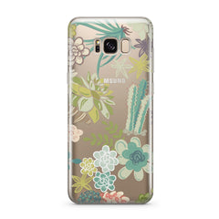 Succulent Garden - Clear Case Cover for Samsung