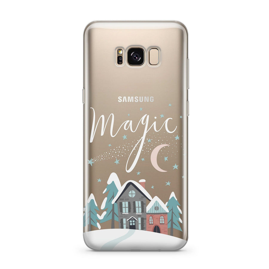 Christmas Magic - Clear Case Cover for Samsung - Milkyway Cases -  iPhone - Samsung - Clear Cut Silicone Phone Case Cover