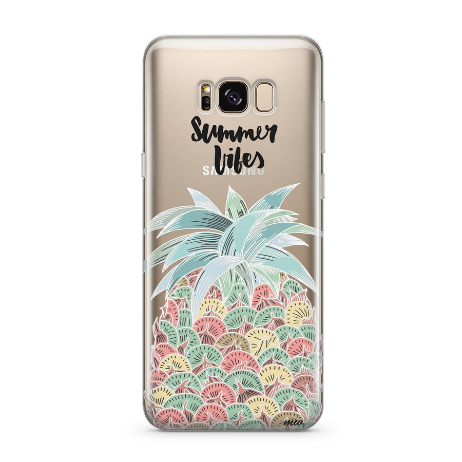 Summer Pineapple Vibes - Clear Case Cover for Samsung
