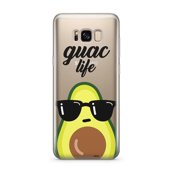 Guac Life - Clear Case Cover for Samsung