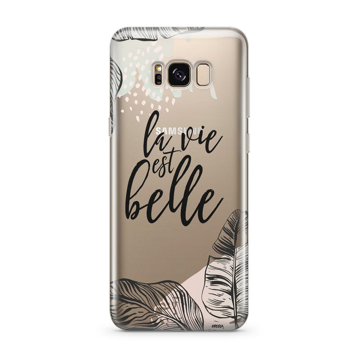 Life Is Beautiful  - Clear Case Cover for Samsung