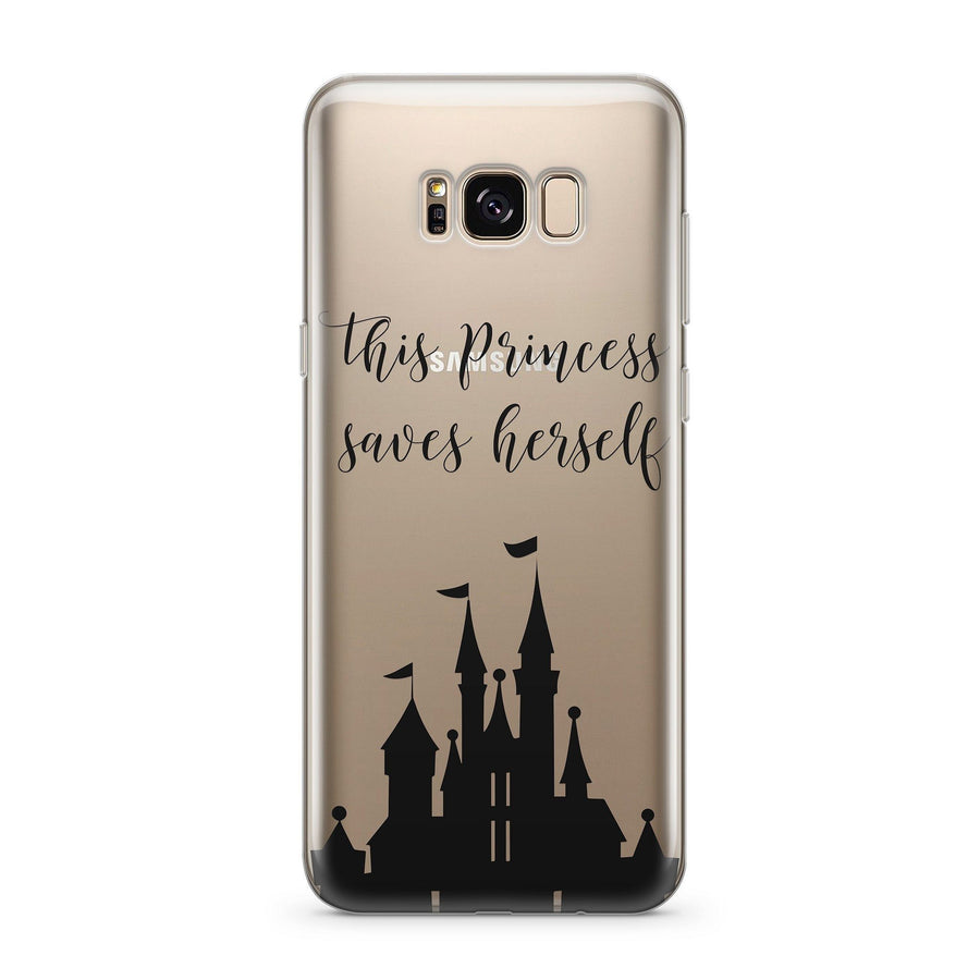 This Princess Saves Herself  - Clear Case Cover for Samsung