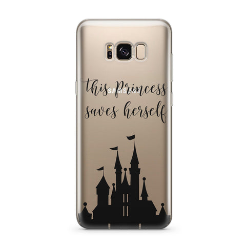 'This Princess Saves Herself'  - Clear TPU Case Cover