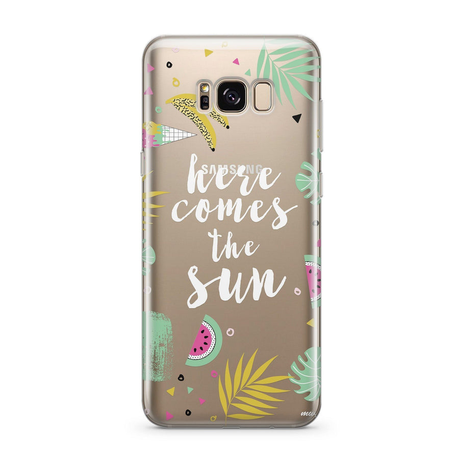 Here Comes The Sun - Clear Case Cover for Samsung Milkyway iPhone Samsung Clear Cute Silicone 8 Plus 7 X Cover