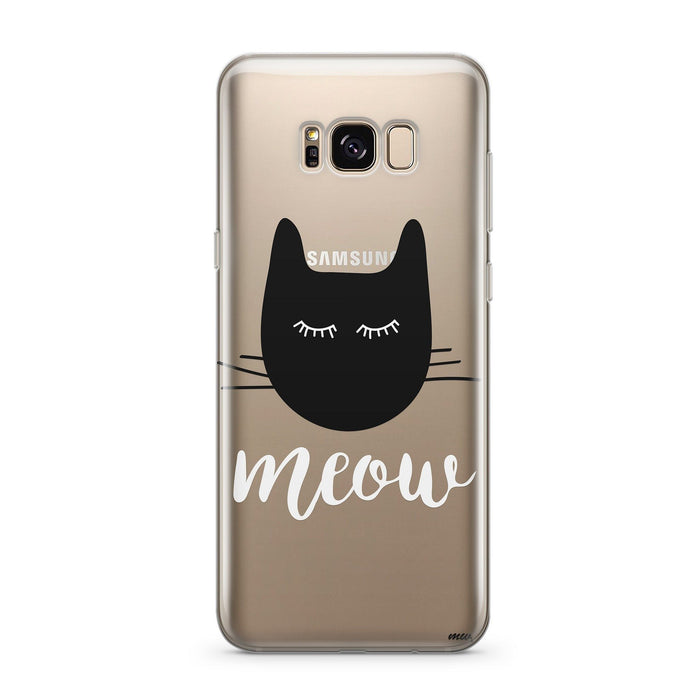Meow - Clear Case Cover for Samsung