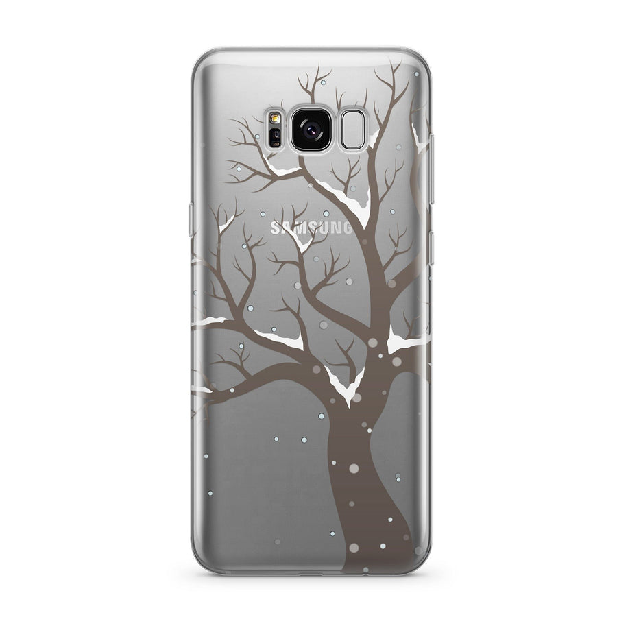 Winter Tree - Clear Case Cover for Samsung - Milkyway Cases -  iPhone - Samsung - Clear Cut Silicone Phone Case Cover