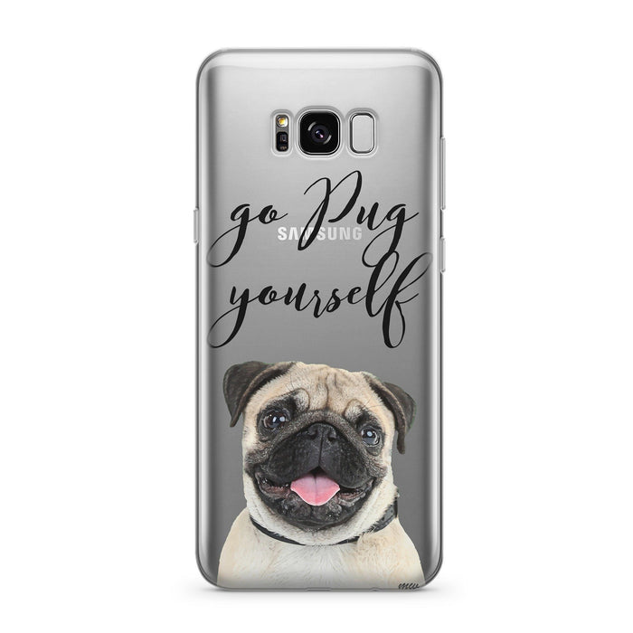 Go Pug Yourself - Clear Case Cover for Samsung