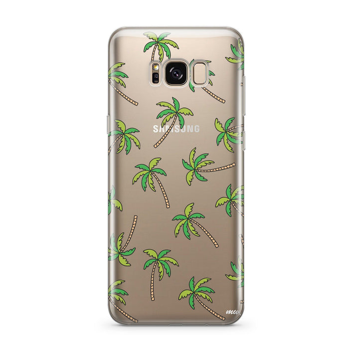 Aloha Trees - Clear Case Cover for Samsung