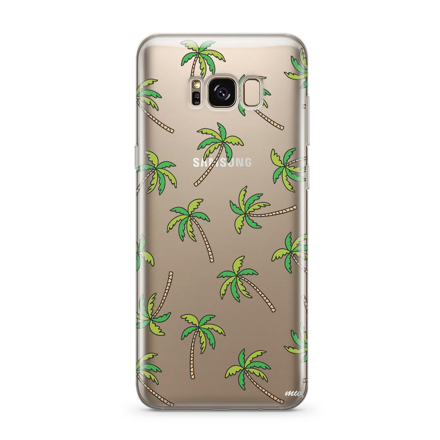 Aloha Trees - Clear Case Cover for Samsung - Milkyway Cases -  iPhone - Samsung - Clear Cut Silicone Phone Case Cover