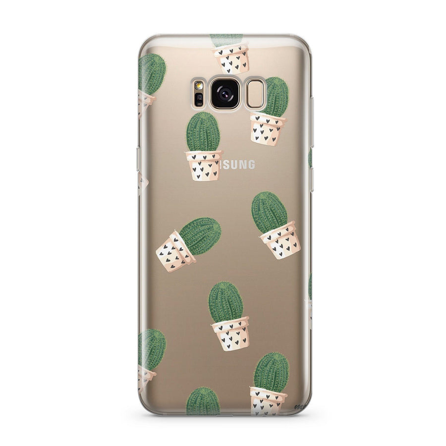 Cacti and Hearts - Clear Case Cover for Samsung - Milkyway Cases -  iPhone - Samsung - Clear Cut Silicone Phone Case Cover