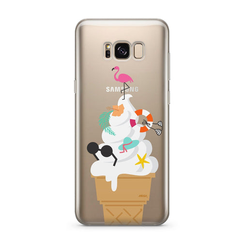 Summer Sundae - Clear Case Cover for Samsung