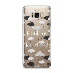 Head In The Clouds - Clear Case Cover for Samsung
