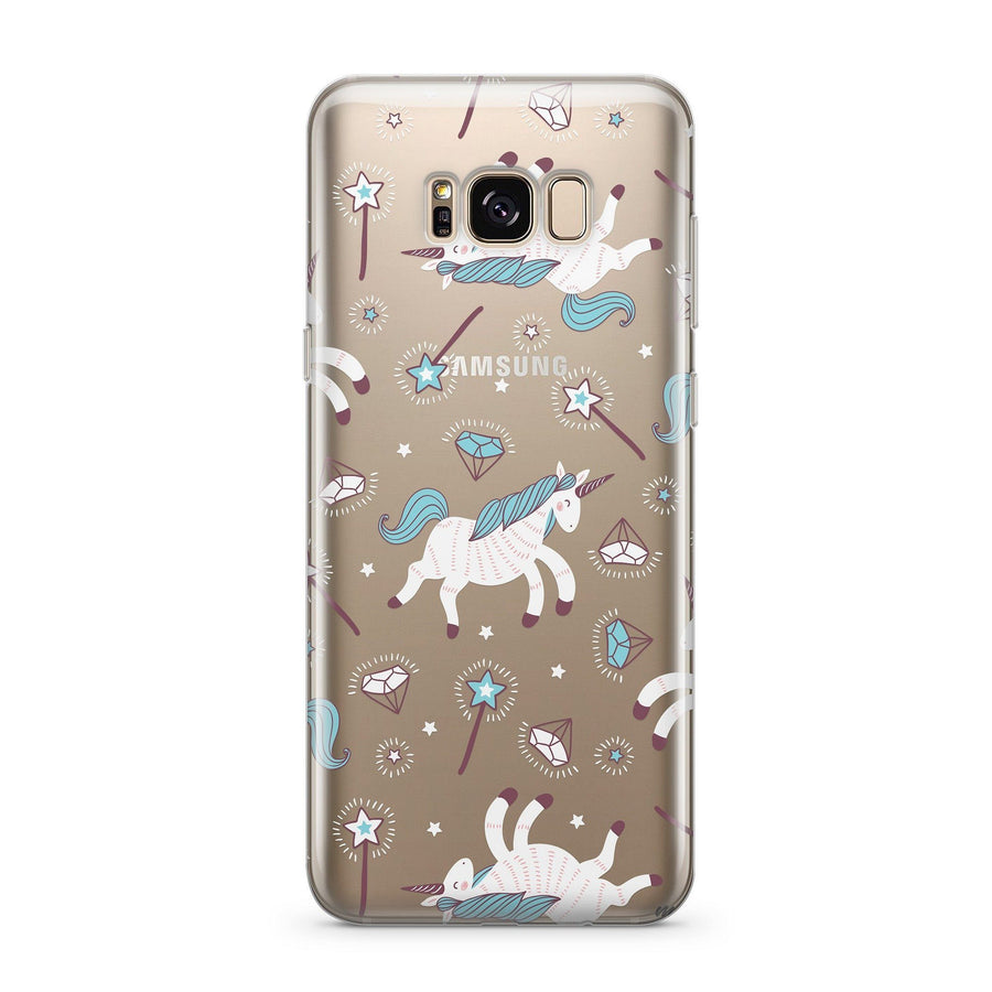 Unicorns and Diamonds - Clear Case Cover for Samsung - Milkyway Cases -  iPhone - Samsung - Clear Cut Silicone Phone Case Cover