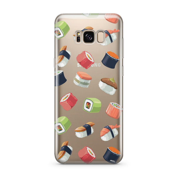 Sushi Lover - Clear Case Cover for Samsung - Milkyway Cases -  iPhone - Samsung - Clear Cut Silicone Phone Case Cover