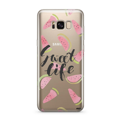 Sweet Life - Clear Case Cover for Samsung