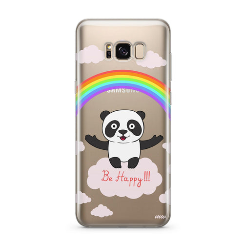 Be Happy - Clear Case Cover for Samsung