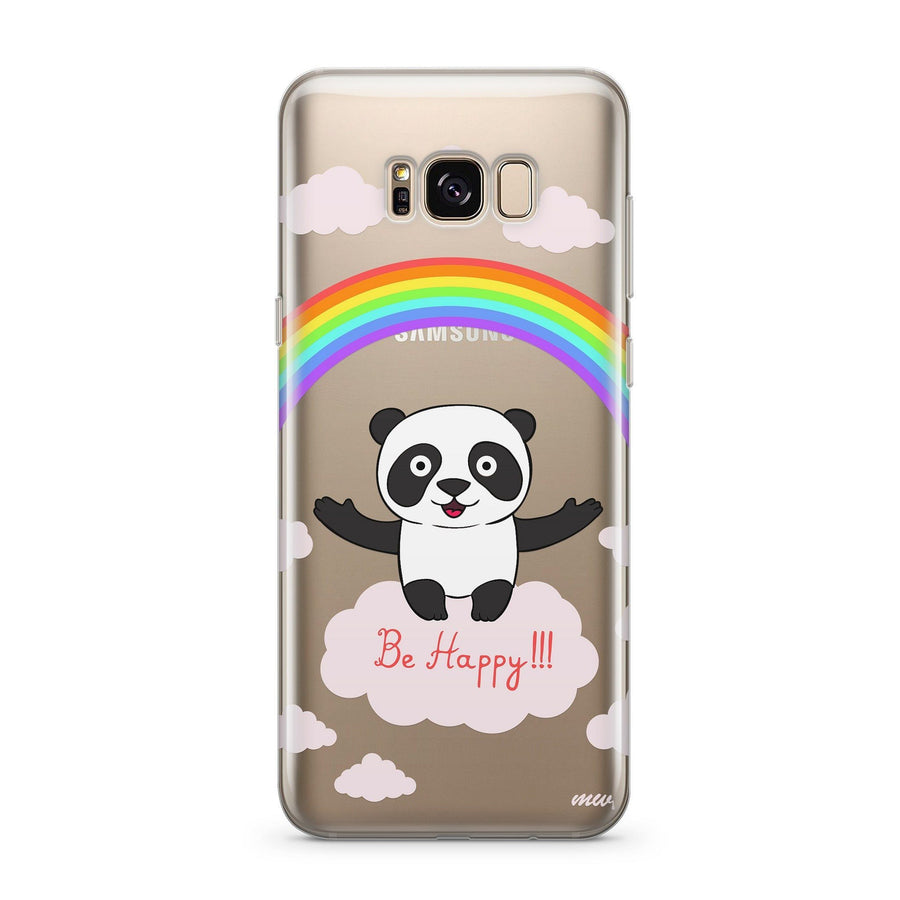 Be Happy - Clear Case Cover for Samsung - Milkyway Cases -  iPhone - Samsung - Clear Cut Silicone Phone Case Cover