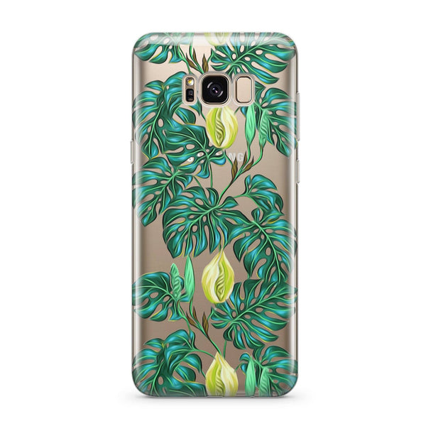 Monstera - Clear Case Cover for Samsung - Milkyway Cases -  iPhone - Samsung - Clear Cut Silicone Phone Case Cover