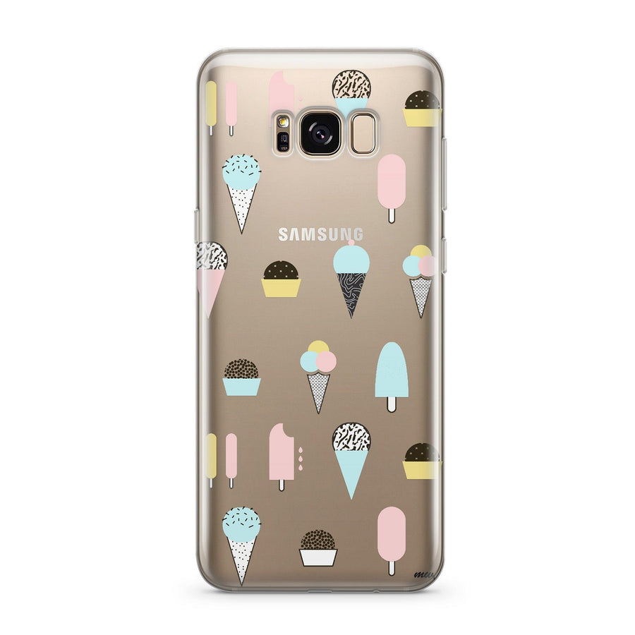 Ice Cream Medley - Clear Case Cover for Samsung - Milkyway Cases -  iPhone - Samsung - Clear Cut Silicone Phone Case Cover