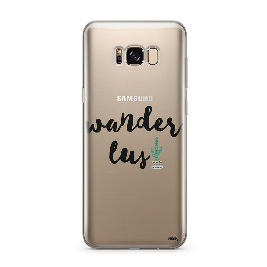Wanderlust - Clear Case Cover for Samsung