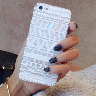 Itzli Henna  - Clear TPU Case Cover - Milkyway Cases -  iPhone - Samsung - Clear Cut Silicone Phone Case Cover