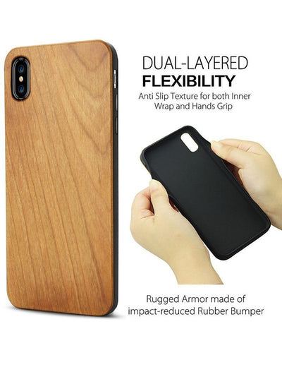 Wood  - Life is Perfect - Milkyway Cases -  iPhone - Samsung - Clear Cut Silicone Phone Case Cover