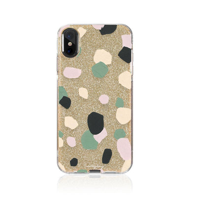 Abstract Confetti Glitter Hybrid Case